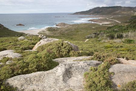Forcados Point Coast; Costa de la Muerte; Galicia; Spain Stock Photo