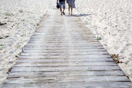 Footpath at Langosteira Beach, Finisterre; Costa de la Muerte; Galicia; Spain