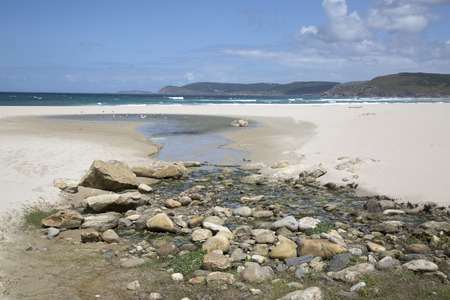 Rostro Beach; Finisterre; Costa de la Muerte; Galicia; Spain Stock Photo