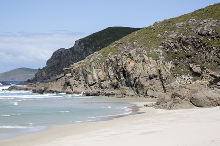 Rostro Beach; Finisterre; Costa de la Muerte; Galicia; Spain Stock Photo