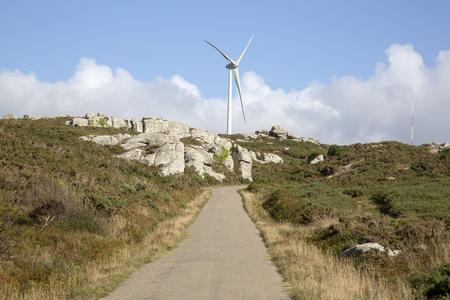 Wind Turbine and Landscape; Nariga; Point; Fisterra; Costa de la Muerte; Galicia; Spain
