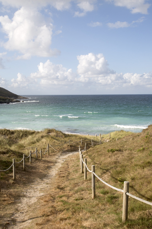 Footpath to Beach at Malpica; Fisterra; Costa de la Muerte; Galicia; Spain