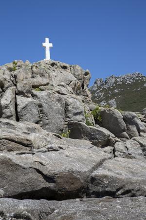 White Cross at Come; Fisterra; Costa de la Muerte; Galicia; Spain