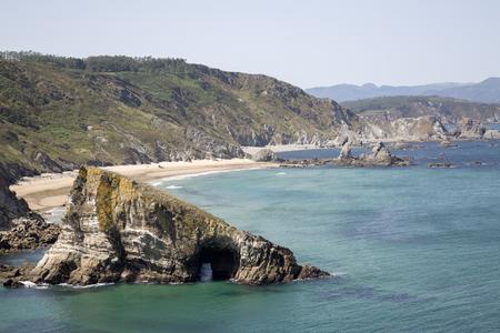 Fabega Beach, Loiba, Galicia; Spain Stock Photo