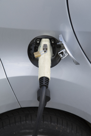 Closeup of Electric Car Plug