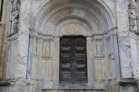 Se Velha Cathedral Church, Coimbra, Portugal Stock Photo