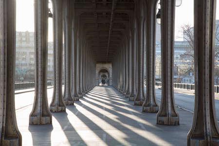 Arches of Bir-Hakeim Bridge; Paris; France