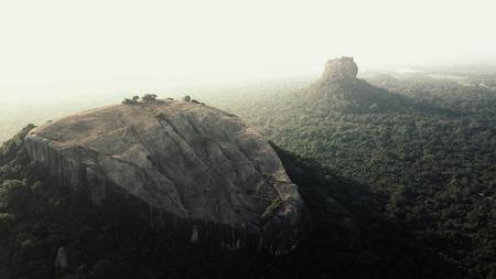 Sunrise over Pidurangla and Sigiriya Rock in Sri Lanka