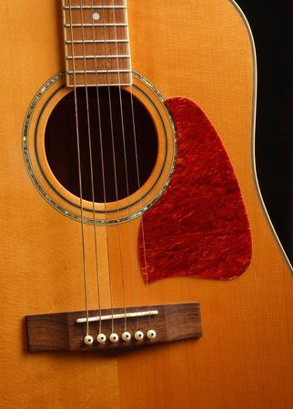 Detail of an acoustic guitar body