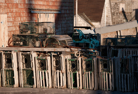 Lobster Traps in rusticl setting  photo