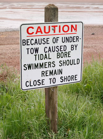 Sign - Undertow warning for swimmers