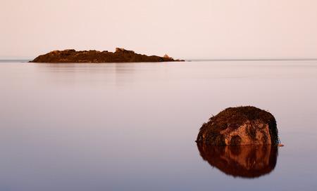 receding: Receding tide at Five Islands.