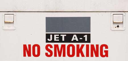 No smoking jet fuel sign photo