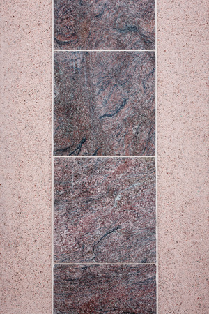 Background - marble tiles on concrete wall photo