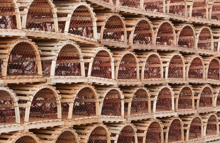 Lobster traps detail  photo