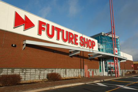 retailer: DARTMOUTH, CANADA - MARCH 21, 2014: Future Shop retail outlet. Future Shop is Canadas largest consumer electronics retailer. Editorial