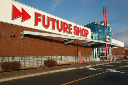appliance: DARTMOUTH, CANADA - MARCH 21, 2014: Future Shop retail outlet. Future Shop is Canadas largest consumer electronics retailer. Editorial