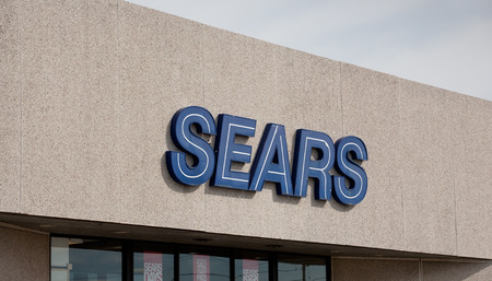 sears: DARTMOUTH, CANADA - MAY 26, 2014: Sears is an American and multinational department store retailer. In 1989 Sears was surpassed as the United States biggest retailer by Walmart in domestic revenue. Editorial