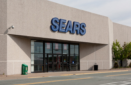 retailer: DARTMOUTH, CANADA - MAY 26, 2014: Sears is an American and multinational department store retailer. In 1989 Sears was surpassed as the United States biggest retailer by Walmart in domestic revenue. Editorial