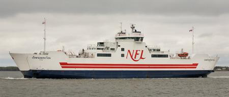 confederation: CARIBOU, CANADA - 22 maggio 2011: MV Confederazione traghetto. Northumberland Ferries Limited � una societ� di traghetti canadese con il suo quartier generale si trova a Charlottetowm, Isola del Principe Edoardo