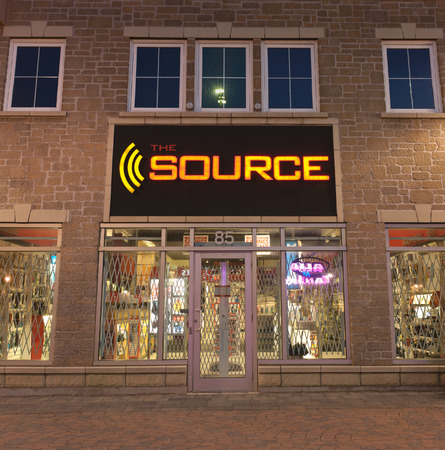 source: DARTMOUTH, CANADA - JULY 20, 2014: The Source retail outlet. The Source, previously Radioshack and The Source by Circuit City, is a retailer which specializes in electronics and has more than 700 outlets in Canada. Editorial
