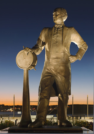 britannia: Halifax, Canada - Sept 08, 2014: Samuel Cunard (1787 – 1865) was a shipping businessman who founded the Cunard Line with the first voyage of a Cunard steamship, the Britannia, from Liverpool to Boston in 1840.