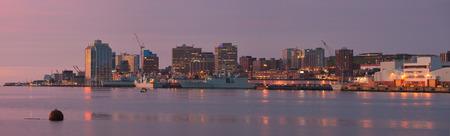 HALIFAX, CANADA - SEPTEMBER 26, 2014: Downtown Halifax skyline at daybreak. Halifax is the capital of the province of Nova Scotia, Canada. Halifax