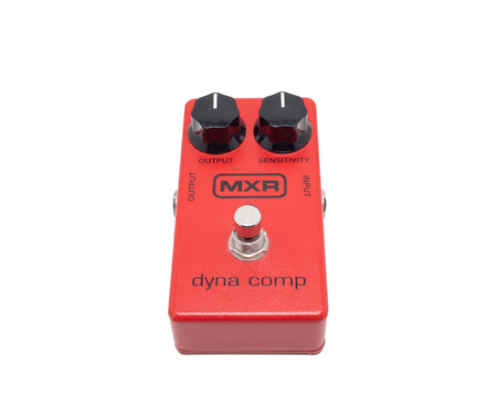pedals: PLEASANT VALLEY, CANADA - MARCH 31, 2015: MXR was a manufacturer of guitar effects pedals, originating in the 1970