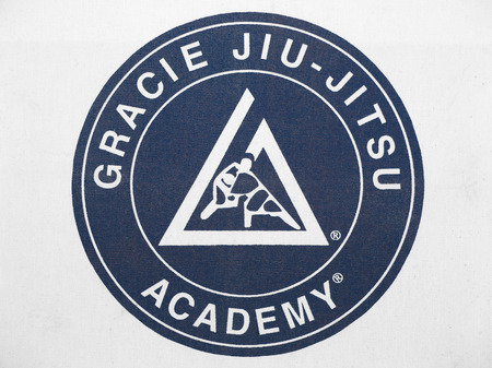 PLEASANT VALLEY CANADA  APRIL 29 2015: The Gracie JiuJitsu Academy was established in Brazil by Carlos Gracie in 1925. The Academy is presently based in California and continues to teach the self defense art on a global basis.