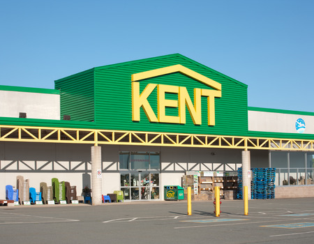 nb: TRURO CANADA  June 07 2015: Kent Building Supplies is a home improvement retailer with outlets in the Canadian provinces of NB NS PEI and Nl. Kent Building Supplies is owned by J.D. Irving Ltd.