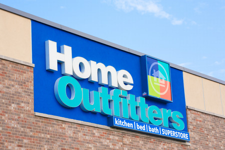 housewares: DARTMOUTH,  CANADA - JULY 12, 2015: Home Outfitters is a Canadian home decorative retail chain specializing in housewares, bedding, towels, and other home decor.