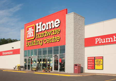 retail chain: PICTOU, CANADA - JULY 17, 2015: Home Hardware is a Canadian home improvement retail chain. Home Hardware has approximately one thousand co-operatively owned member stores.