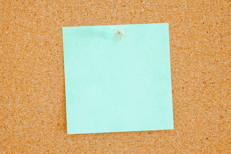 inform information: Aqua color reminder note on bulletin board