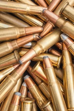 ammunition: Closeup view of ammunition pile