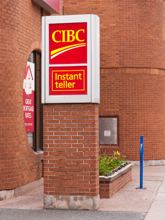 the deposits: TRURO, CANADA - SEPTEMBER 20, 2015:  CIBC banking centre. The Canadian Imperial Bank of Commerce or CIBC, is Canadas fifth largest chartered bank as measured by deposits.