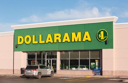 retail chain: TRURO, CANADA - NOVEMBER 07, 2015: Dollarama is a Canadian retail chain, selling items for three dollars and less. There are more than 900 Dollarama stores in Canada. Editorial