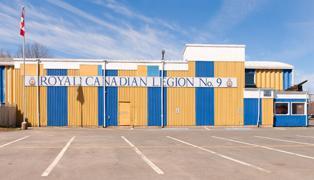 WINDSOR, CANADA - MAY 01, 2016: The Royal Canadian Legion is a non-profit Canadian veterans organization. The Legion was formed in 1925.