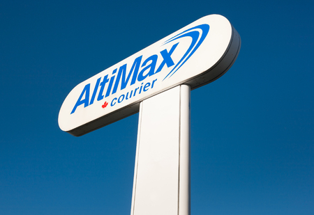 DARTMOUTH, CANADA - JULY 03, 2016: DARTMOUTH, CANADA - JULY 03, 2016: Altimax Courier is an Atlantic Canada based freight shipping service operating both ground and air delivery services.