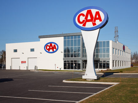 DARTMOUTH, CANADA - DECEMBER 06, 2106: The Canadian Automobile Association or CAA, is a not for profit group which provides several automobile services including roadside, insurance and travel services. Editorial
