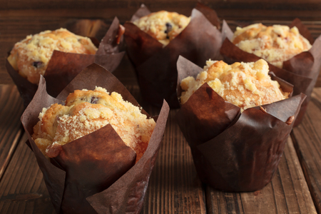 wildberry: Wildberry muffins in natural light. Stock Photo