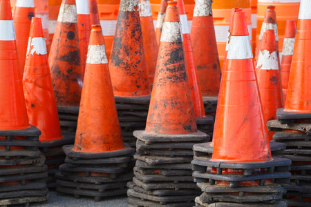 Stacked trafficsafety cones