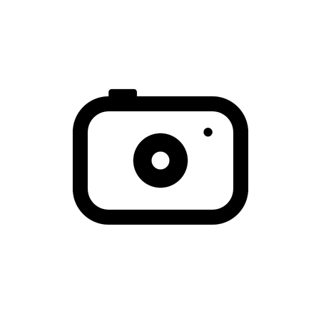 Simple black camera icon illustration
