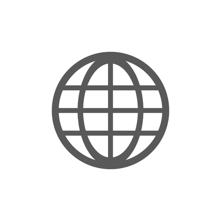World globe grid icon illustration