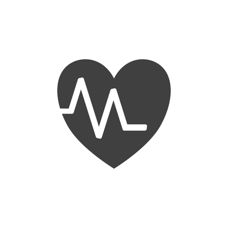 Heart health medical concept icon on white background.