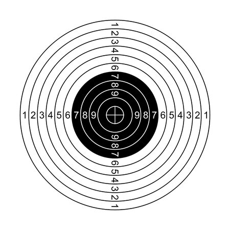 Classic shooting target illustration isolated on white
