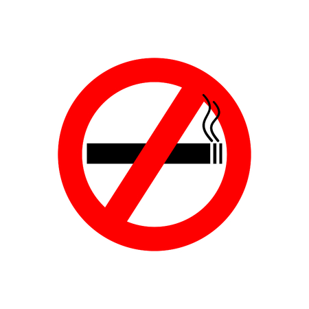 Standard no smoking vector symbol isolated on white