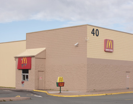 TRURO, CANADA - NOVEMBER 04, 2014: McDonalds Corp is the biggest chain of fast food restuarants in the world. Mcdonalds operates in 119 countries with approx 35,000 outlets.