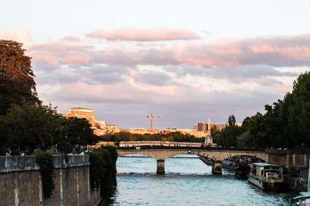 citytrip: a picture taken of the seine in france with france on the background