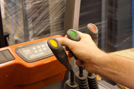 palanca: Sirve la mano que controla montacargas palanca elevadora cami�n