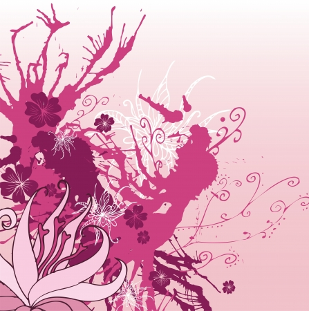 Pink Ink Chaos Vector